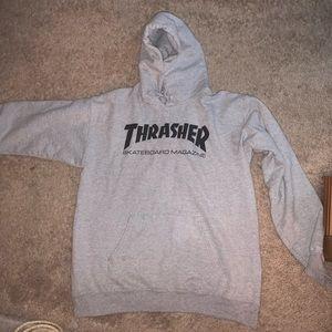 Gray Thrasher Hoodie